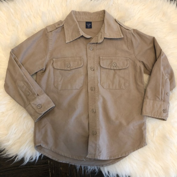e1bd4df65ae Boys toddler khaki utility button up safari shirt
